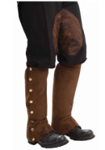 Brown Steampunk Shoe Spats