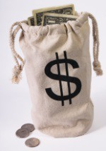 Stolen Bank Money Bag