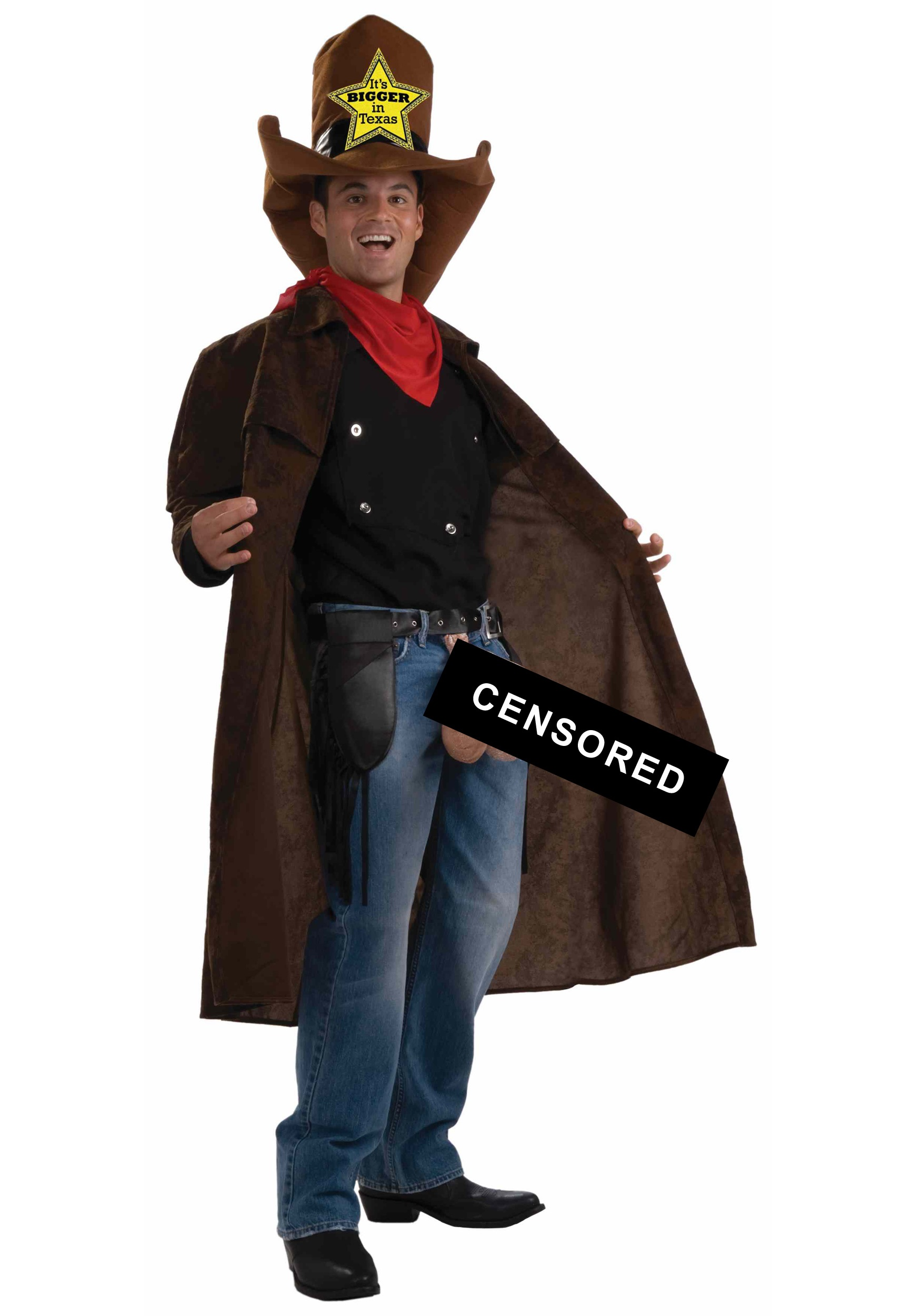 Everything's Bigger in Texas Costume - Offensive Adult Humor Costume