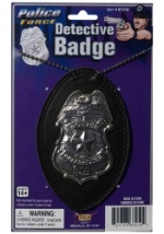 Police Detective Badge On Chain