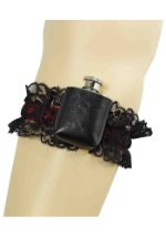 Ladies Gangster Garter Flask