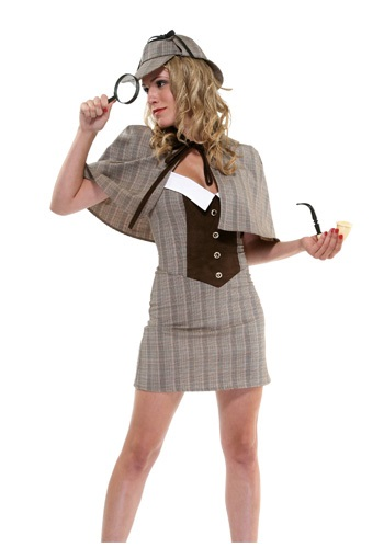 Ladies Sexy Detective Costume