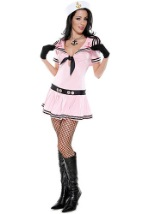 Pink Sailor Pin-Up Girl Costume
