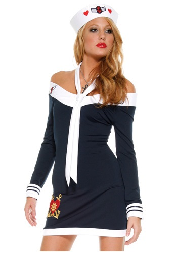 Sexy Sailor Shrug Dress
