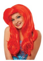 Red Kids Mermaid Wig