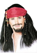 Braided Buccaneer Pirate Wig