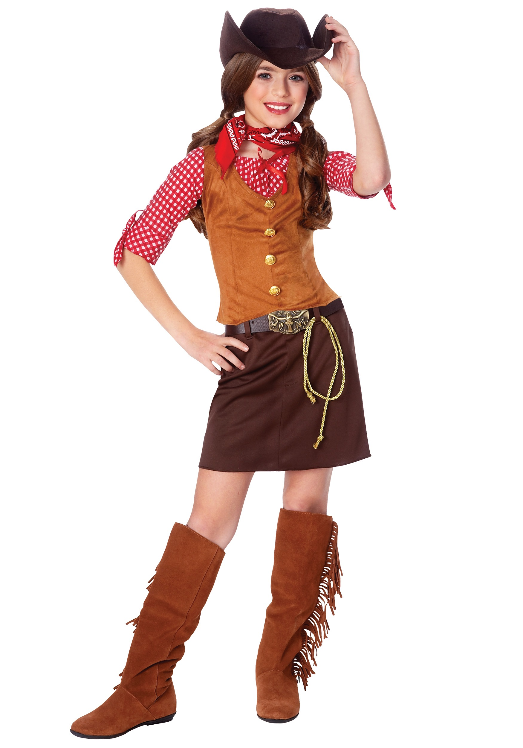 Western Girls Gun Slinger Costume  sc 1 st  Halloween Costume Ideas & Western Girls Gun Slinger Costume - Cowgirl Costumes for Kids