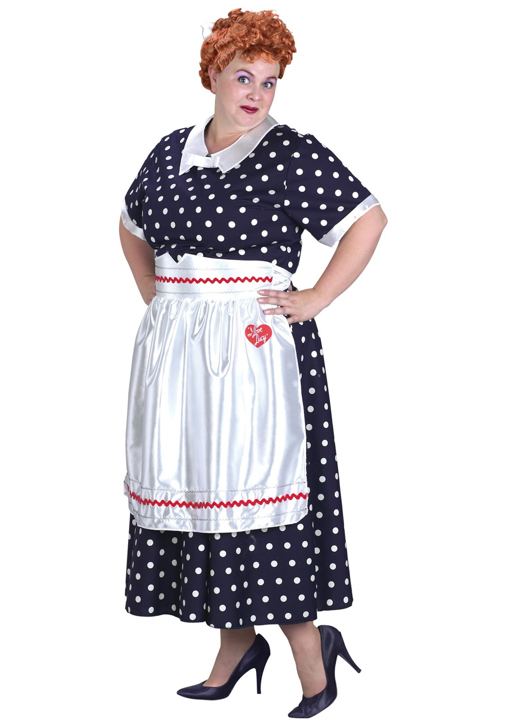 plus size i love lucy dress - adult halloween costumes from the 1950s