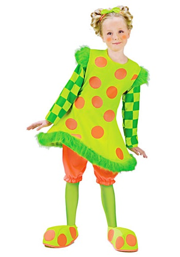 Girls Lolli Clown Costume