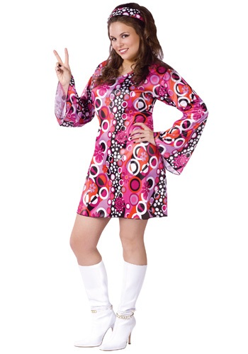 Plus Size Groovy GoGo Dress