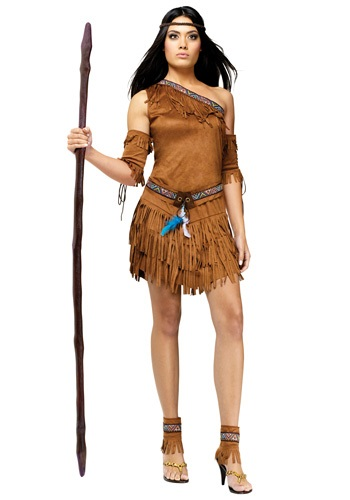Womens Fringed Pow Wow Costume