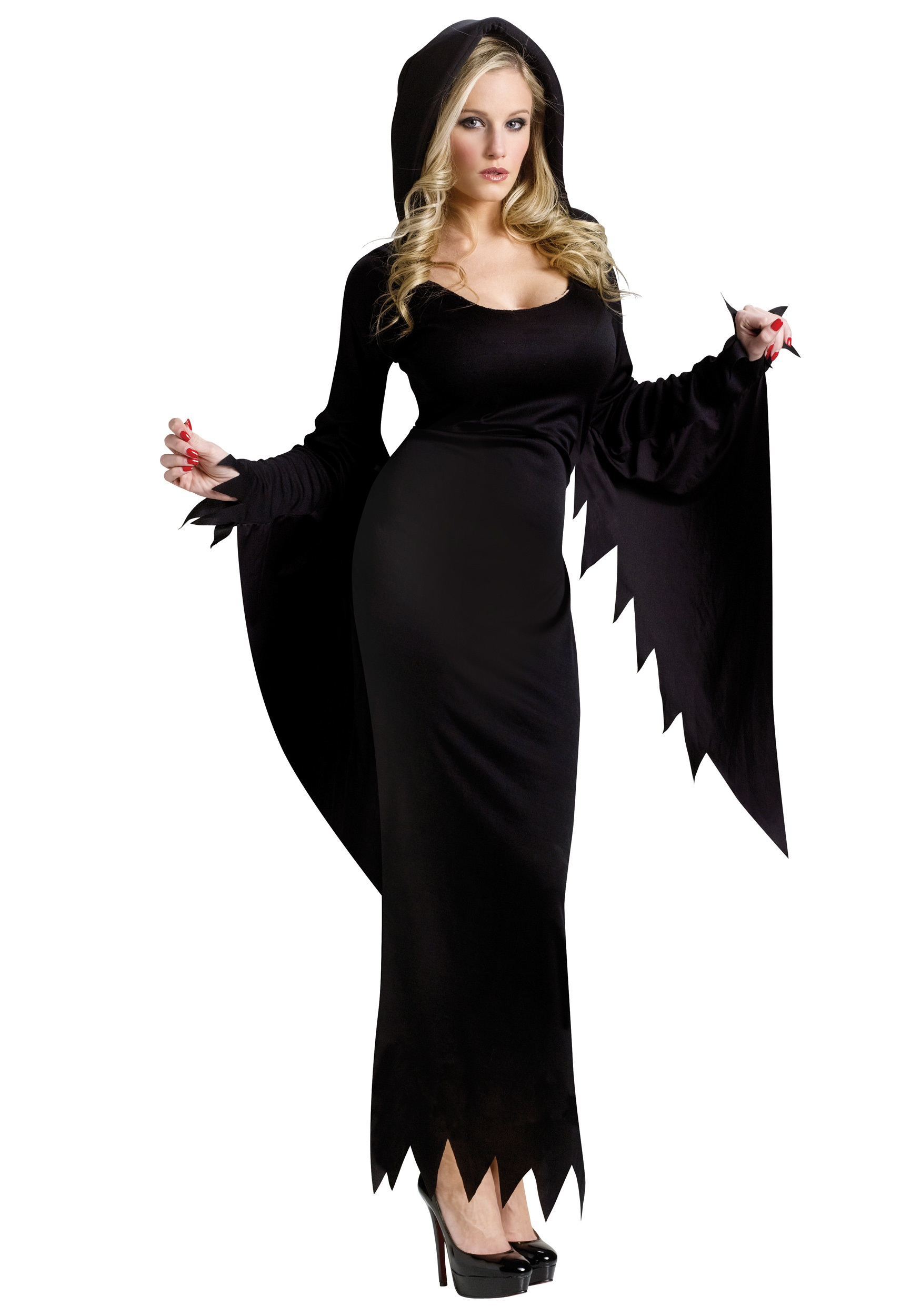 Black Hooded Womens Gown  sc 1 st  Halloween Costume Ideas & Black Hooded Womens Gown - Witch Vampire Costume Ideas