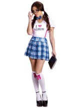Sexy Dork School Girl Costume