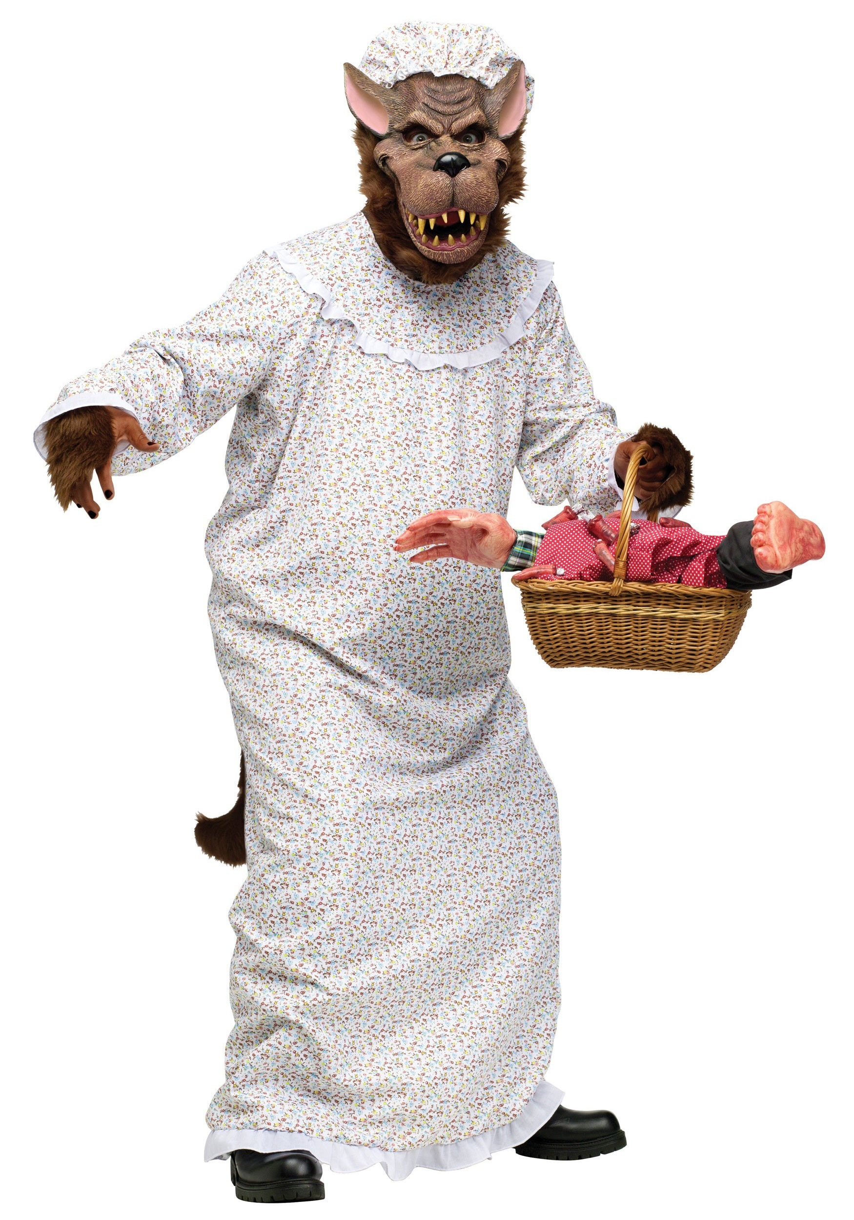 Big Bad Wolf In Granny Gown Costume - Little Red Riding Hood ...