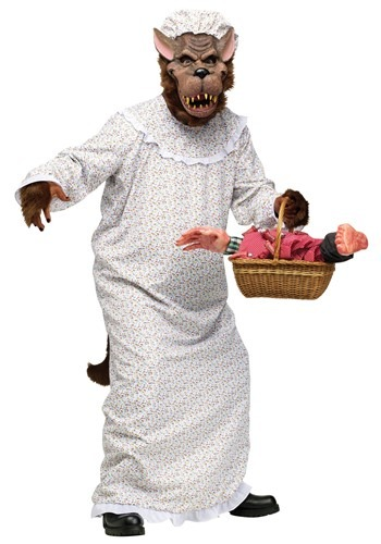 Big Bad Wolf In Granny Gown Costume