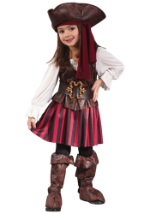 Girl's Caribbean Pirate Toddler Costume