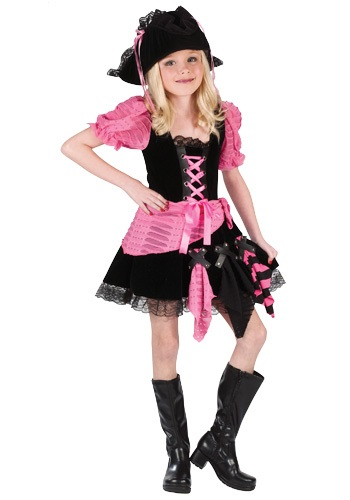 Girl's Sassy Pink Pirate Costume