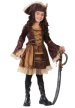 Sassy Girls' Victorian Pirate Costume