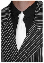 White Gangster Necktie