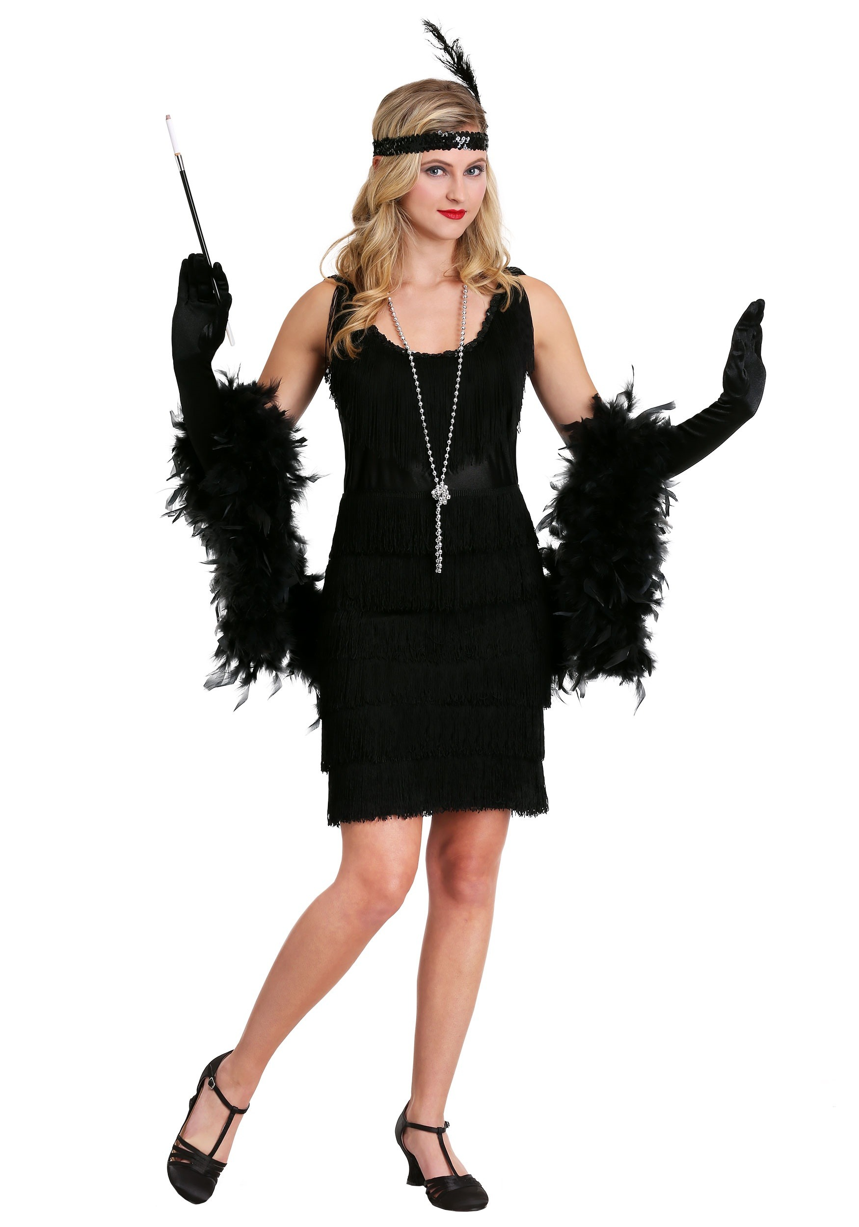 fringe black flapper costume adult flapper halloween costumes