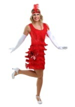 Red Flapper Costume Dress