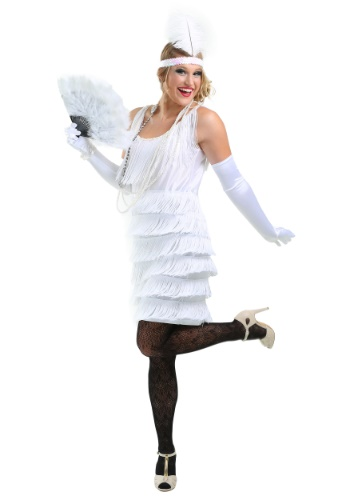 White Flapper Halloween Costume