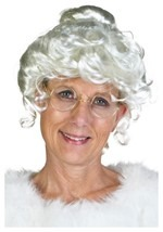 Deluxe Elderly Mrs. Claus Wig