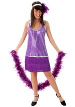 Adult Purple Flapper Dress