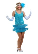 Adult Turquoise Flapper Dress