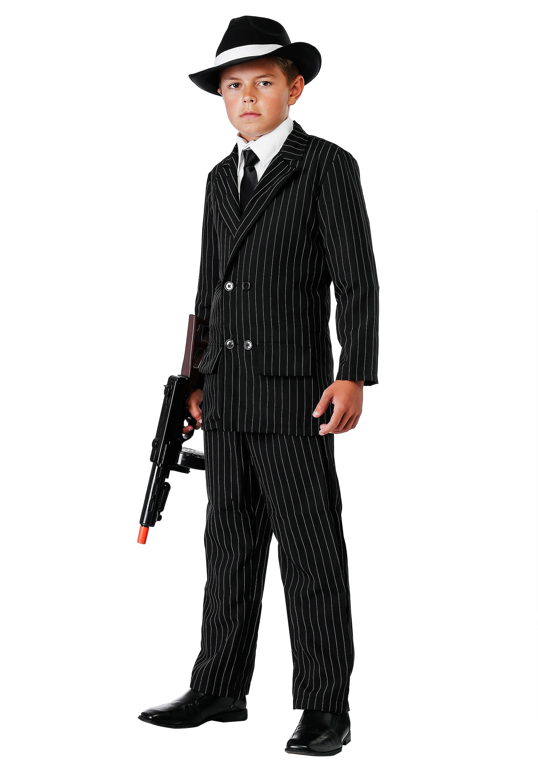 child deluxe gangster suit - Halloween Mobster Costumes