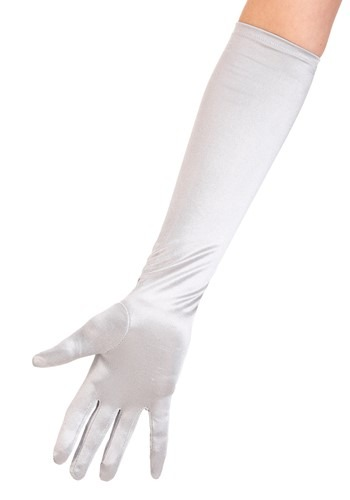 Womens Silver Gloves