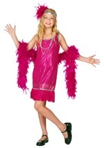 Child Fuchsia Fringe Flapper Costume
