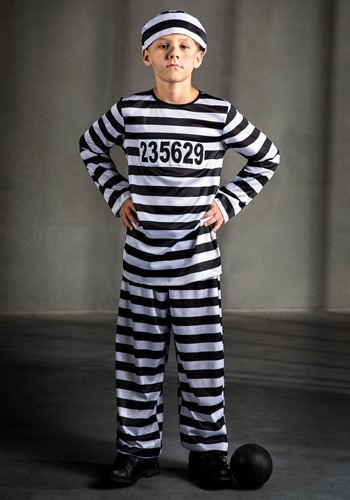 Kids Inmate Prisoner Costume