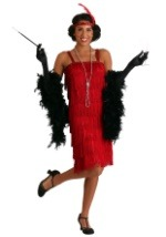 Red Charleston Flapper Girl Dress