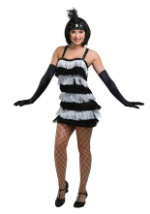 Black and Silver Flapper Girl Costume