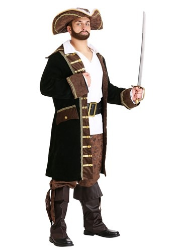 Realistic Men's Pirate Captain Costume