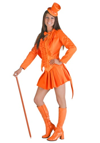 Sexy Dummy Orange Tuxedo Costume
