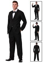 Mens Black Costume Suit