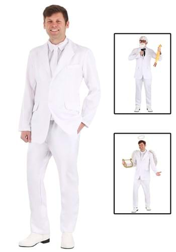 Mens Angelic White Suit Costume