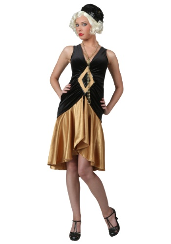 20's Vintage Plus Size Flapper Costume