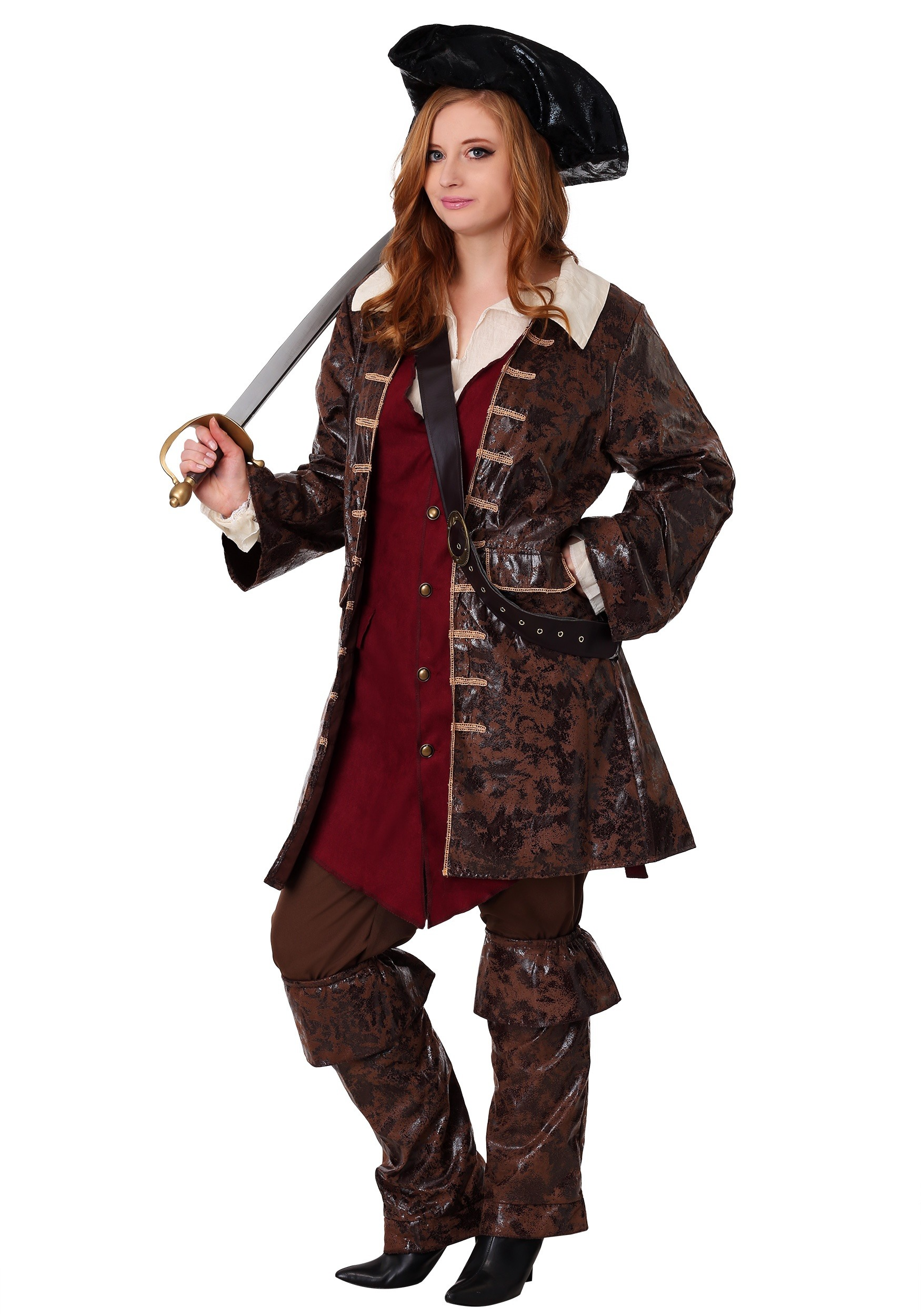 Plus Size Plundering Pirate Costume Womens Caribbean