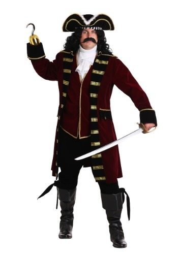 Deluxe Plus Size Captain Hook Costume