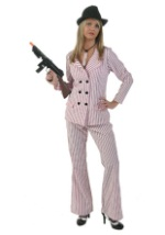 Plus Pink Gangster Moll Costume
