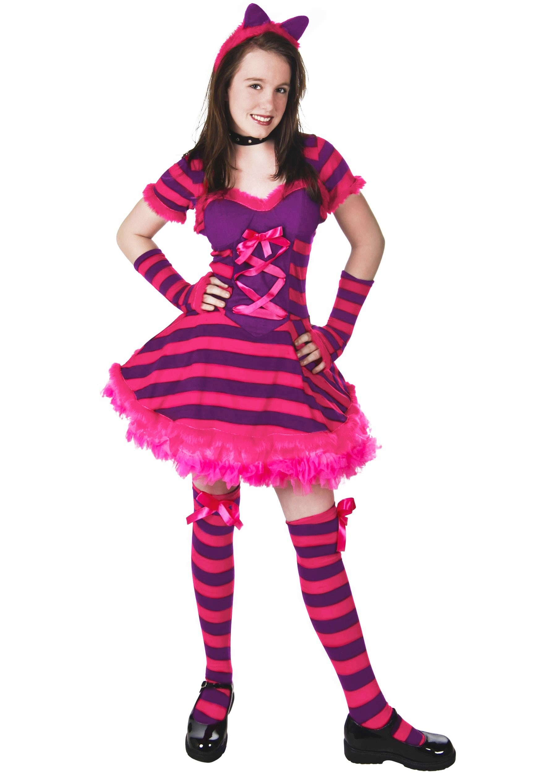 Teen Wonderland Kitty Cat Costume  sc 1 st  Halloween Costume Ideas & Teen Wonderland Kitty Cat Costume - Girls Alice in Wonderland Costumes