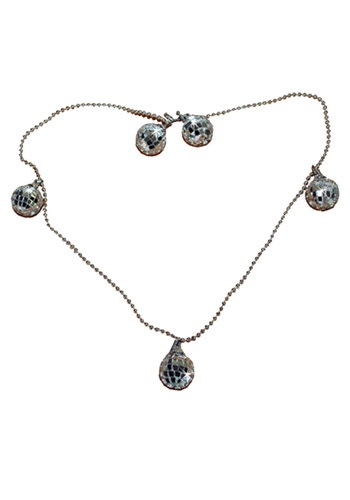 Mirrored Disco Ball Necklace