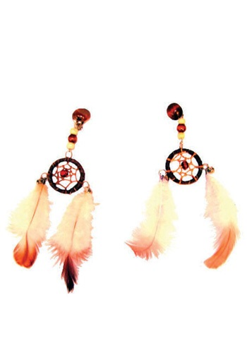 Beaded Dream Catcher Earrings