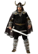 Mens Plus Size Brave Viking Warrior Costume