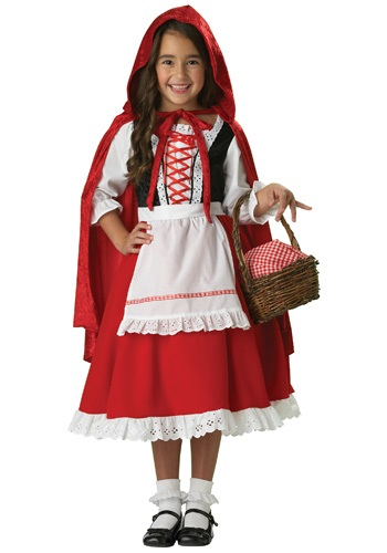 Traditional Girls Red Riding Hood Costume