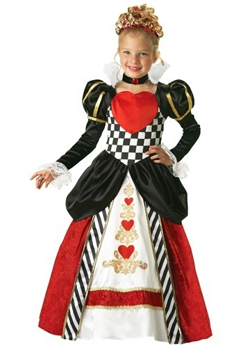 Girls Queen of Hearts Deluxe Costume