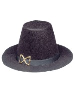 Felt Black Pilgrim Hat